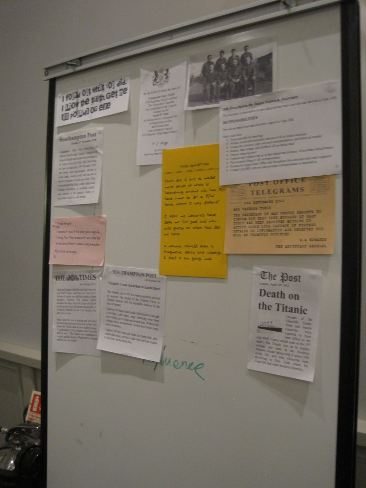 The evidence board