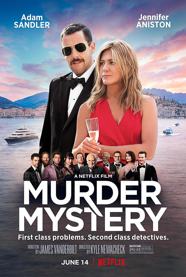 Official poster for Murder Mystery: 3 June 2019, Source - Gofobo, Author - Netflix