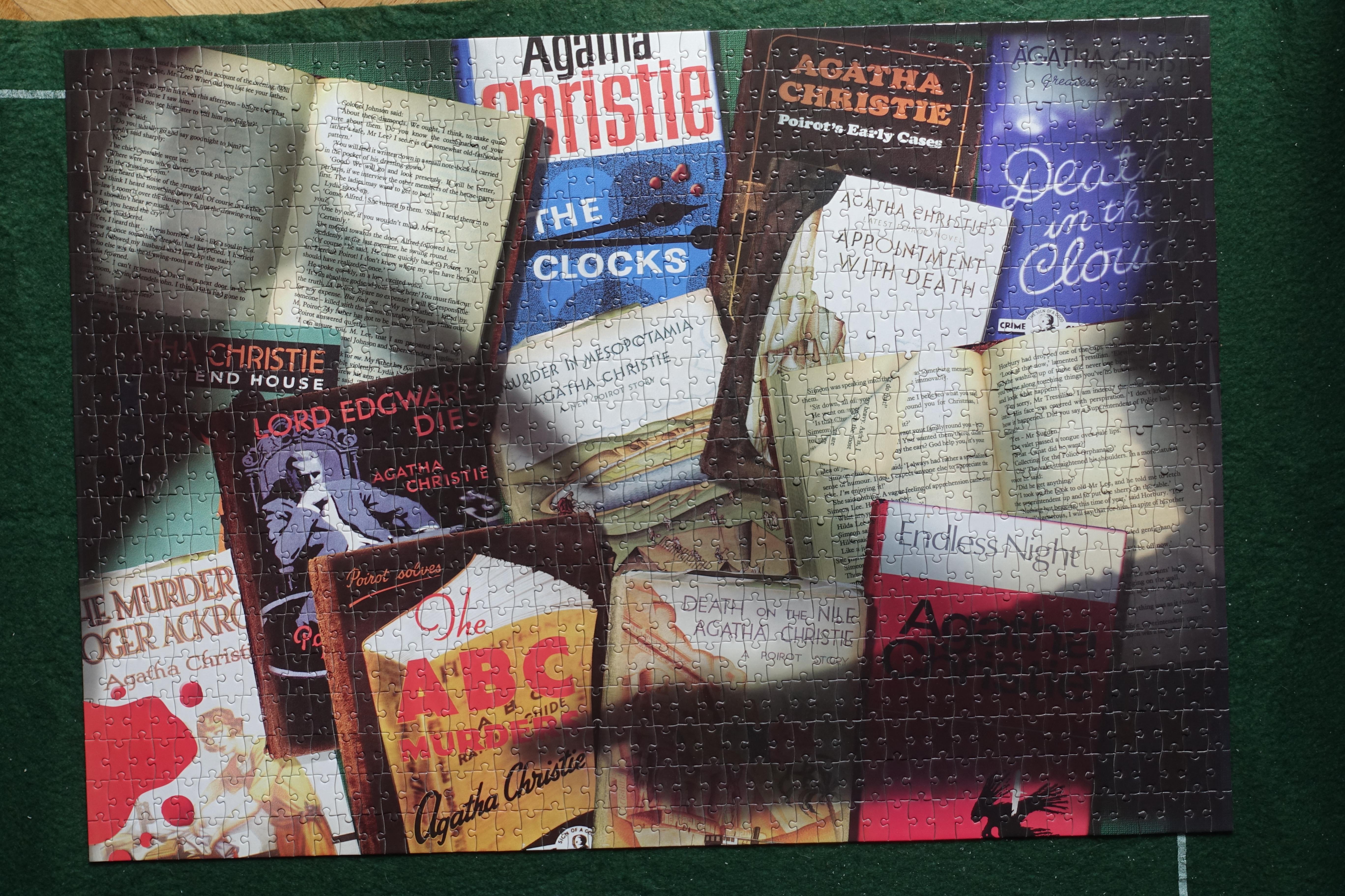 Agatha Christies Books Jigsaw